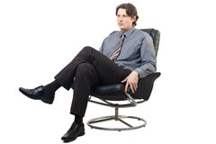Portrait Of A Thinking Businessman Royalty Free Stock Photos