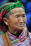 Portrait Of A Vietnamese Woman From The Hmong Tribe Royalty Free Stock Photo