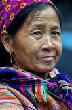 Portrait Of A Vietnamese Woman From The Hmong Tribe Royalty Free Stock Photography