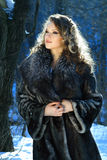 Portrait Of A Winter Woman Royalty Free Stock Photos