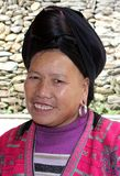 Portrait Of A Woman Of The Red Yao Hill Tribes, Longsheng / Longji,China Royalty Free Stock Images