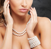 Portrait Of A Young Blond Woman In Beautiful Jewelry Stock Photos
