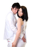 Portrait Of A Young Handsome Couple. Royalty Free Stock Photos