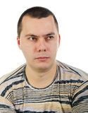 Portrait Of Angry Young Man Stock Image