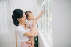 Free Portrait Of Asian Mother And Baby Lifestyle Image Stock Photo - 161944590