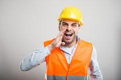 Free Portrait Of Attractive Architect Screaming Out Loud Stock Photography - 112107062