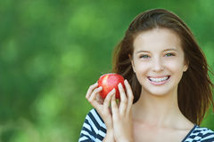 Free Portrait Of Attractive Girl Eating Royalty Free Stock Photography - 30450087