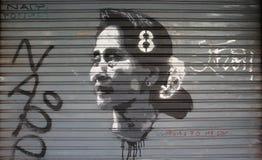 Free Portrait Of Aung San Suu Kyi Stock Photography - 132699472