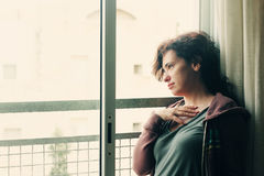 Portrait Of Beautiful 35 Years Old Woman Stock Photography