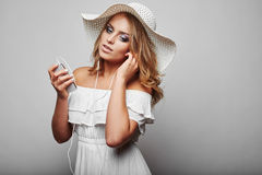 Portrait Of Beautiful Blond Woman Royalty Free Stock Photos