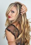 Portrait Of Beautiful Blonde Woman Stock Photos