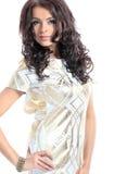 Portrait Of Beautiful Female Model On White Background Royalty Free Stock Image