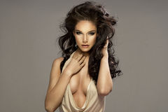 Free Portrait Of Beautiful Sensual Brunette Woman Royalty Free Stock Images - 52105779
