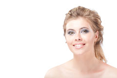 Portrait Of Beautiful Smiling Woman Royalty Free Stock Photography