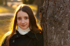 Free Portrait Of Beautiful Teenage Girl In The Park Stock Photo - 23815280
