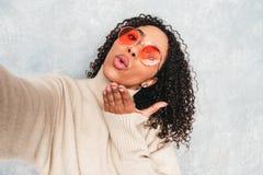 Portrait Of Beautiful Woman Posing In Studio Stock Image