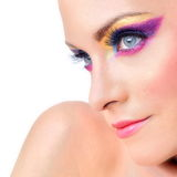 Portrait Of Beautiful Woman With Bright Make Up Royalty Free Stock Photos