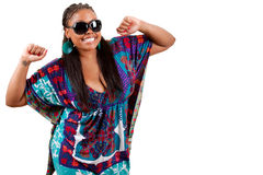 Free Portrait Of Beautiful Young Black Woman Dancing Stock Photography - 19458512