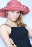 Portrait Of Beautiful Young Fashion Model Stock Photography