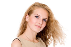 Portrait Of Beautiful Young Happy Smiling Woman Stock Photography