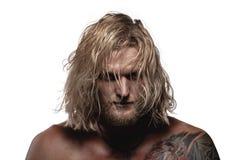 Portrait Of Brutal Man Stock Images