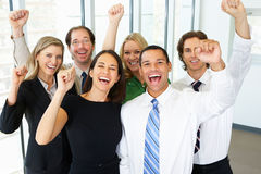 Free Portrait Of Business Team In Office Celebrating Stock Photos - 31170903