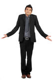 Portrait Of Businessman Gesturing Do Not Know Sign Royalty Free Stock Photo