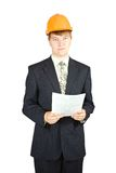 Portrait Of Businessman In Hardhat Stock Photography