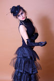 Portrait Of Classic Goth Lady Stock Photography