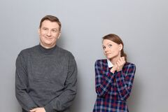 Free Portrait Of Couple During Conversation, Relationship Concept Stock Photography - 214228842