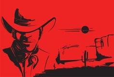 Portrait Of Cowboy Man Stock Photos