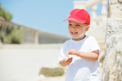 Free Portrait Of Cute Boy In A Red Cap Stock Photos - 21433113
