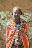 Portrait Of Dassanech Girl. Omorato, Ethiopia. Royalty Free Stock Photo
