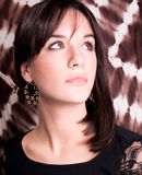 Portrait Of Elegant Woman With Earring Royalty Free Stock Photos