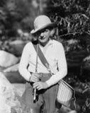 Portrait Of Female Fisherman Royalty Free Stock Image