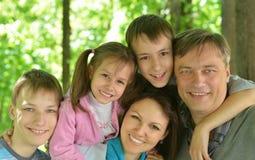 Portrait Of Friendly Family Royalty Free Stock Photo
