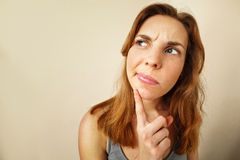 Free Portrait Of Funny Girl In Doubt About Something. Stock Image - 51723181