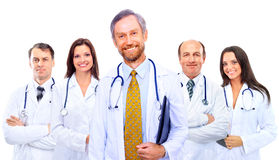 Portrait Of Group Of Smiling Hospital Royalty Free Stock Image