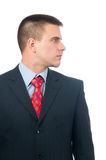 Portrait Of Handsome Businessman From Profile Stock Photo