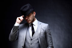 Free Portrait Of Handsome Stylish Man In Elegant Suit Royalty Free Stock Photos - 64520778