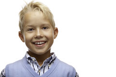 Portrait Of Happy Smiling Child (boy) Royalty Free Stock Photography