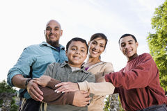 Free Portrait Of Hispanic Family Outdoors Stock Images - 15051544