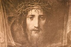 Free Portrait Of Jesus Christ By Correggio In A Vintage Book Portraits Of Christ, By K.A. Fisher, 1896, Moscow Royalty Free Stock Photography - 180156027