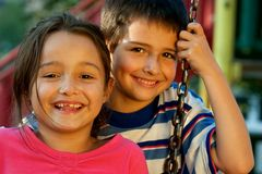Portrait Of Laughing Children Royalty Free Stock Photos
