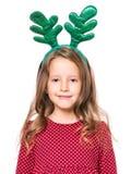 Portrait Of Little Christmas Girl Stock Images