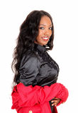 Portrait Of Lovely Black Girl. Stock Photo