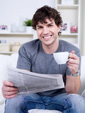 Portrait Of Man At Home Stock Photos