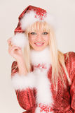 Portrait Of Mrs. Santa Claus Stock Image
