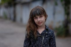 Free Portrait Of Nine Year Old Girl. A Series Of Photos Of A Girl Of 8 Or 9 Years Old Stock Images - 163907214