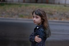 Free Portrait Of Nine Year Old Girl. A Series Of Photos Of A Girl Of 8 Or 9 Years Old Stock Photos - 163907893